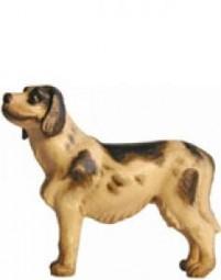 Hund Krippenfigur Lasiert