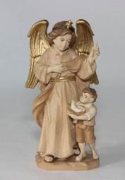 Verkündigungsengel mit Kind Krippenfigur Gebeizt