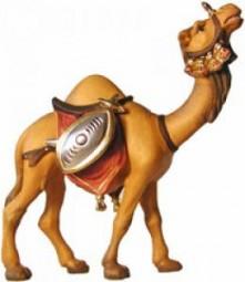 Kamel mit Gepäck Krippenfigur Lasiert