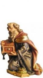 König kniend Krippenfigur Lasiert