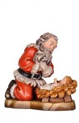 Weihnachtsmann kniend 20 cm Natur