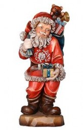 Weihnachtsmann Paket 12 cm Natur