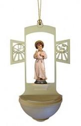 Weihwasserkessel Christuskind-Knabe Color 17 cm
