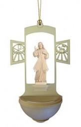 Weihwasserkessel Jesus Barmherzigkeit Natur 17 cm