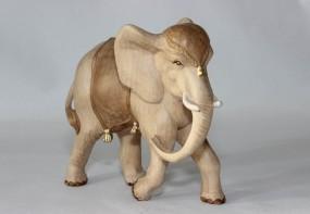 Elefant Krippenfigur Gebeizt (versch. Größen)