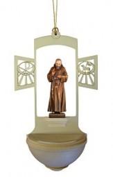 Weihwasserkessel Padre Pio Color 17 cm