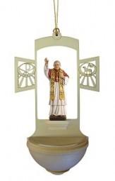 Weihwasserkessel Papst Benedikt XVI Color 17 cm