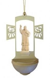 Weihwasserkessel Papst Benedikt XVI Natur 17 cm