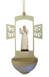 Weihwasserkessel Papst Johannes P.II Color 17 cm