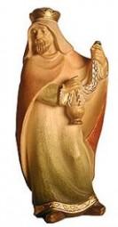 Heiliger König Stehend Krippenfigur Lasiert