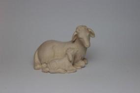 Schaf mit Lamm Natur