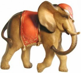 Elefant Krippenfigur Lasiert (versch. Größen)
