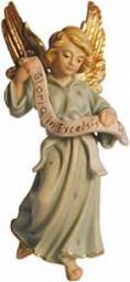 Gloriaengel Krippenfigur Lasiert