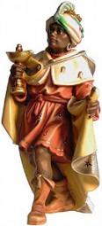 König Mohr Krippenfigur Lasiert