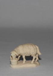 Schaf mit Trog Krippenfigur Natur