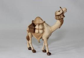 Kamel mit Gepäck Krippenfigur Gebeizt