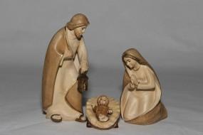 Heilige Famile Krippenfigur Gebeizt