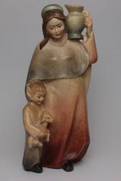 Hirtenfrau Krippenfigur Lasiert