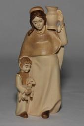 Hirtenfrau Krippenfigur Gebeizt