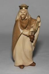 Heiliger König Stehend Krippenfigur Gebeizt